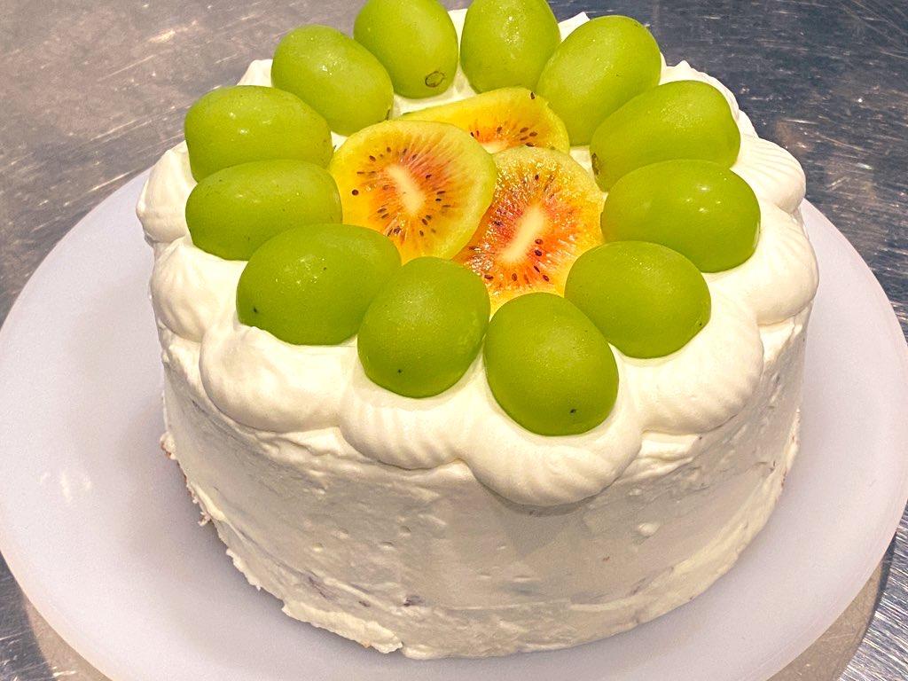 マスカットのショートケーキ