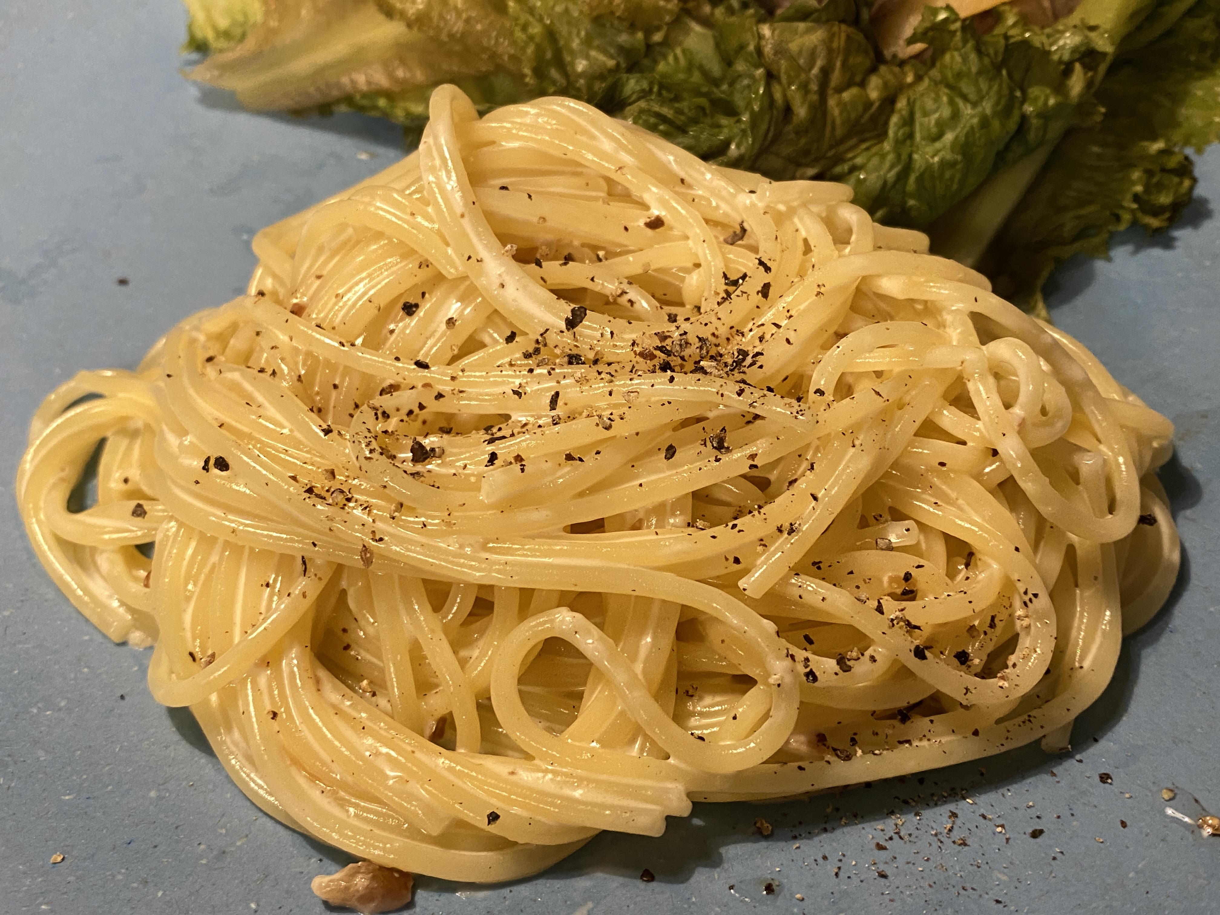 塩レモンクリームパスタ